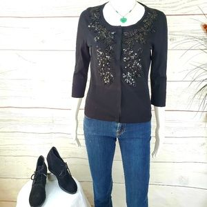 White House Black Market embellished cardigan